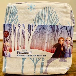 Disney Frozen II Four-Piece Flannel Full Sheet Set